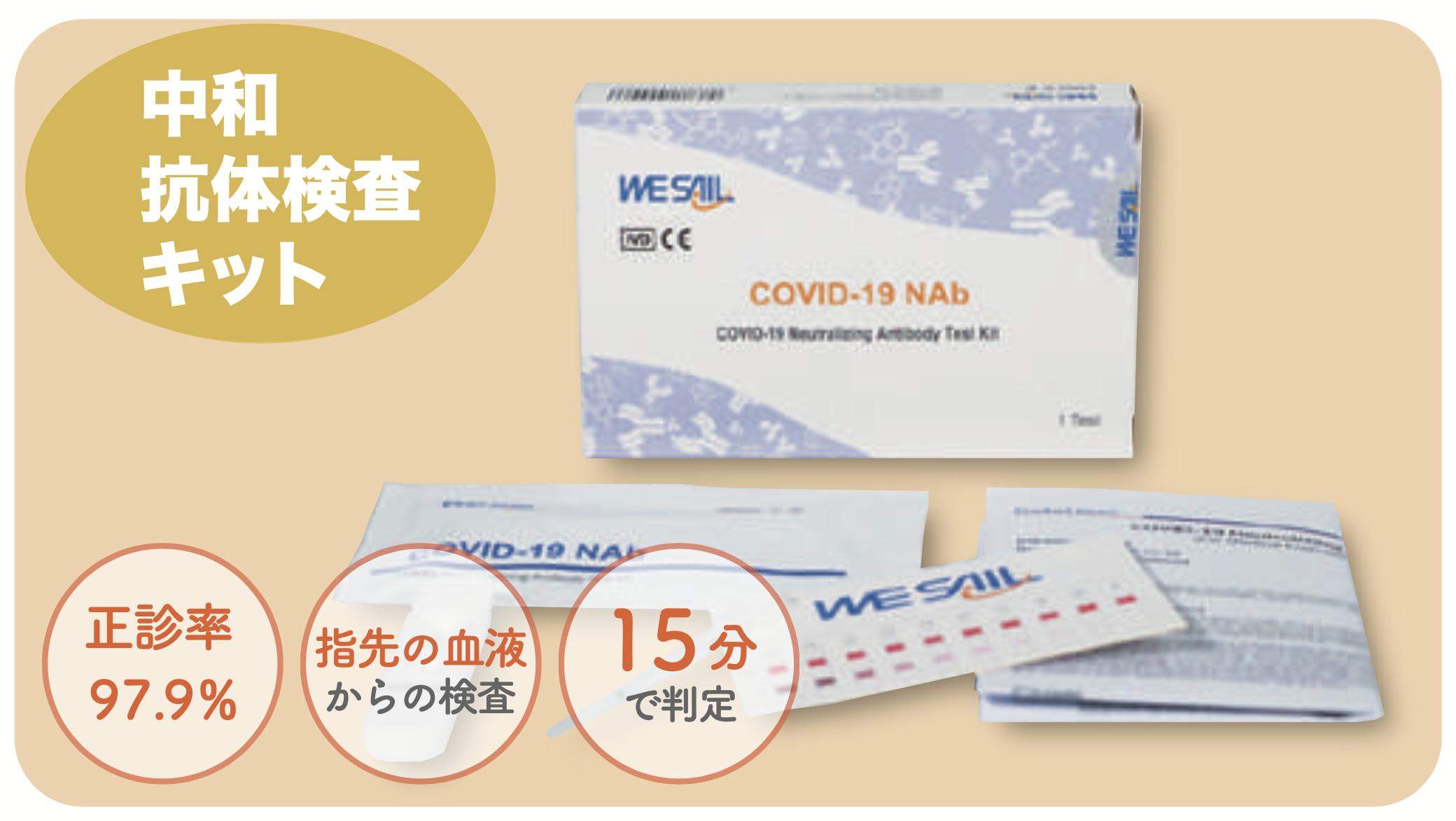新型コロナウイルス中和抗体検査キット 概要画像